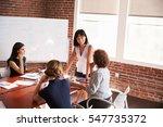 group of businesswomen meeting...   Shutterstock . vector #547735372