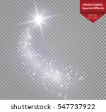 a bright comet with large dust. ... | Shutterstock .eps vector #547737922