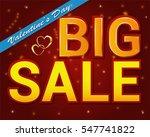 valentine's day sale  ... | Shutterstock .eps vector #547741822
