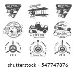 vintage airplane emblems. pilot ... | Shutterstock . vector #547747876
