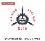 airplane propeller emblem.... | Shutterstock . vector #547747966