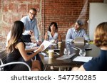 businesspeople meeting in... | Shutterstock . vector #547750285