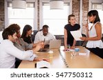businesspeople meeting around... | Shutterstock . vector #547750312