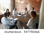 group of businesspeople meeting ... | Shutterstock . vector #547750366