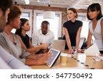 businesspeople meeting around... | Shutterstock . vector #547750492