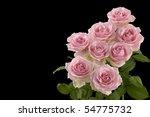 Rose Bouquet On Black
