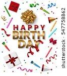 happy birthday banner template... | Shutterstock .eps vector #547758862