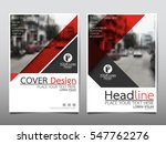 red flyer cover business... | Shutterstock .eps vector #547762276