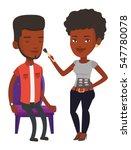 african visagiste applying... | Shutterstock .eps vector #547780078