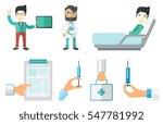 male patient lying in hospital... | Shutterstock .eps vector #547781992