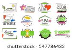 colorful set of logotypes or... | Shutterstock .eps vector #547786432