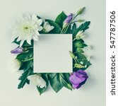 creative layout made of flowers ... | Shutterstock . vector #547787506