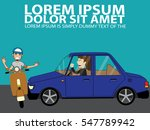 uptight car driver and...   Shutterstock .eps vector #547789942