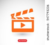 clapper board  icon. one of set ... | Shutterstock .eps vector #547793236