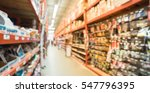 blurred a large hardware store  ... | Shutterstock . vector #547796395