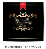 happy valentines day card | Shutterstock .eps vector #547797106