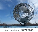 Huge Globe In Flushing Meadows...