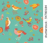 birds seamless pattern | Shutterstock .eps vector #54780184