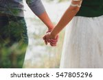 stylish man and woman holding... | Shutterstock . vector #547805296