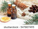 essential oil blend. dark glass ... | Shutterstock . vector #547807495