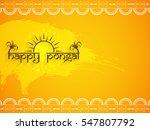 happy pongal background design   Shutterstock .eps vector #547807792
