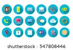 round communication icons set... | Shutterstock .eps vector #547808446