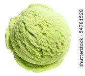 Scoop Of Pistachio Ice Cream...