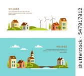 village. small town. rural and... | Shutterstock .eps vector #547817812