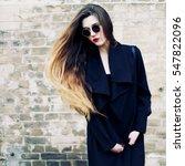 fashion portrait stylish pretty ... | Shutterstock . vector #547822096