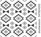 black and white ethnic tribal... | Shutterstock .eps vector #547824202