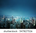 hong kong from the victoria peak | Shutterstock . vector #547827526