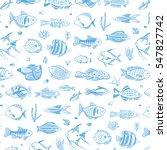 ocean fish pattern | Shutterstock .eps vector #547827742