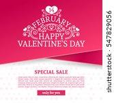 template design valentine... | Shutterstock .eps vector #547829056