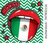 happy birthday mexico   pop art ... | Shutterstock .eps vector #547832116