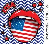 happy birthday usa   pop art... | Shutterstock .eps vector #547832122
