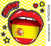 happy birthday spain   pop art... | Shutterstock .eps vector #547832206
