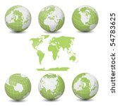 earth green globes collection... | Shutterstock .eps vector #54783625