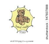 hand made logo doodle badges... | Shutterstock .eps vector #547837888