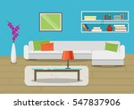 vector image. living room...   Shutterstock .eps vector #547837906