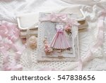 shabby chic scrap booking card
