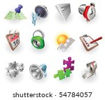 a set of silver steel or... | Shutterstock .eps vector #54784057