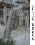 rushing water between frozen... | Shutterstock . vector #547847998