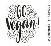 vegetarian eco concept. vector... | Shutterstock .eps vector #547854376
