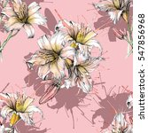 seamless pattern with floral... | Shutterstock . vector #547856968