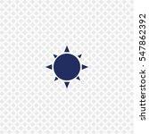 icon of sun on white background....