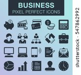 set of pixel perfect business...