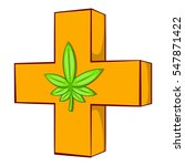 medical marijuana sign  icon in ... | Shutterstock . vector #547871422