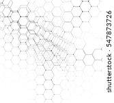 chemistry 3d pattern  hexagonal ... | Shutterstock . vector #547873726