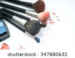 brush and cosmetic isolated on... | Shutterstock . vector #547880632