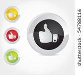 thumb up gesture. vector. | Shutterstock .eps vector #54788116